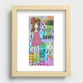 Playful in Pink Recessed Framed Print