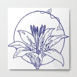 Forest Lover's Wild Flower Metal Print