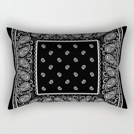 Classic Black Bandana Rectangular Pillow