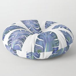 Tropical Banana Leaves Blue #society6 #buyart Floor Pillow