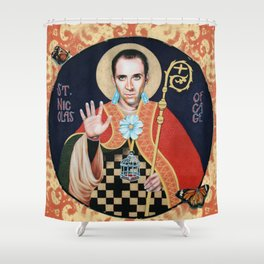 Saint Nicolas of Cage Shower Curtain