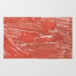 Indian red colorful wash drawing Rug