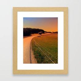 Hiking trip in summer time   landscape photography Framed Art Print