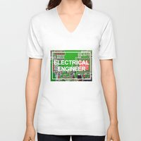 engineer V-neck T-shirts featuring Electrical Engineer by EEShirts