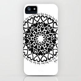 Love Heart Mandala iPhone Case