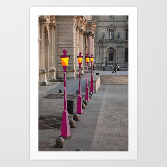 Lightposts Art Print