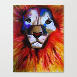 Circus Lion Canvas Print