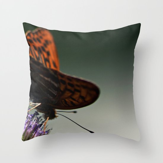 I spread my wings Throw Pillow