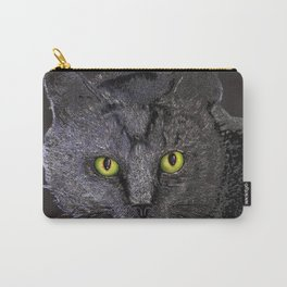 Gray Tabby Carry-All Pouch