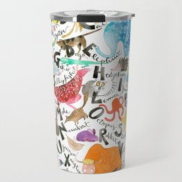 English Alphabet Travel Mug