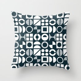Geometric shapes pattern Throw Pillow