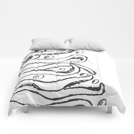 Octopus Drawing Comforters