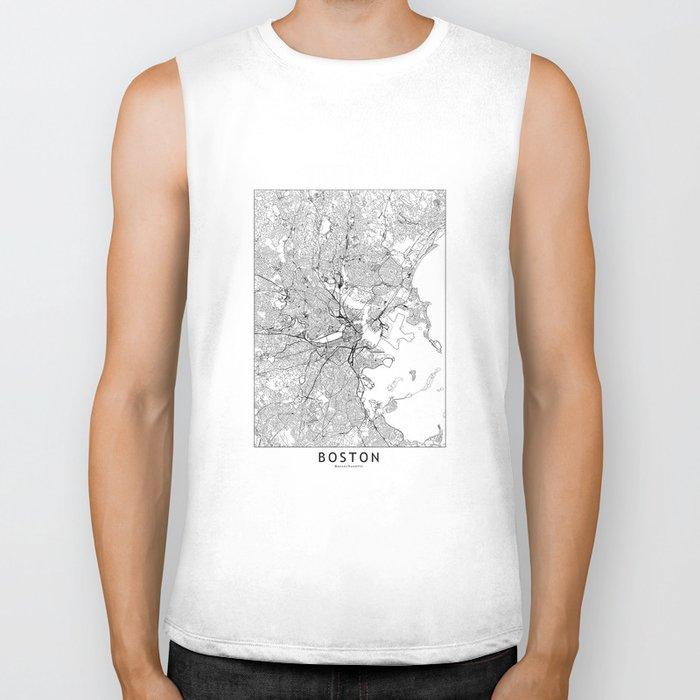 Boston White Map Biker Tank