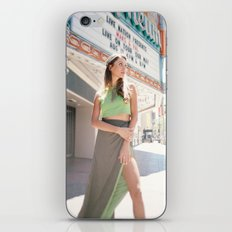 Model in Green Dress iPhone & iPod Skin