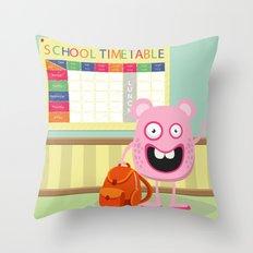 Monster School Throw Pillow