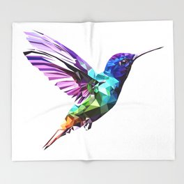 Little humming bird Throw Blanket