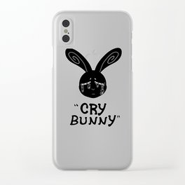 Cry Baby Cry Bunny Clear iPhone Case