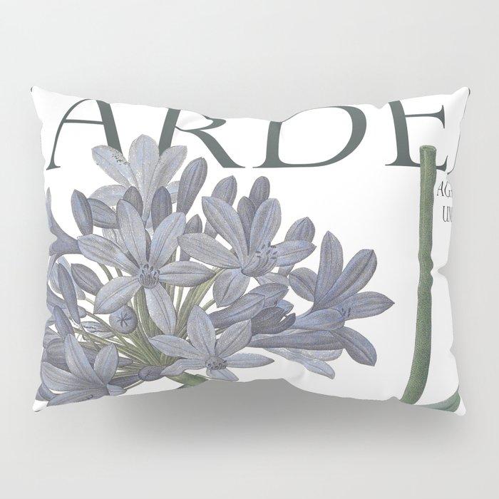 Victoria's Garden, feat. Agapanthus Umbellatus, Magazine Cover Pillow Sham