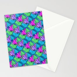 Tessellated Parrots Pink Stationery Cards