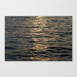 Surface of sea in twilight Canvas Print