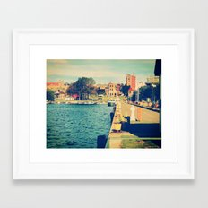 Harbor At Marquette Michigan Framed Art Print