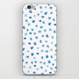 Blue Stars, Watercolour iPhone Skin