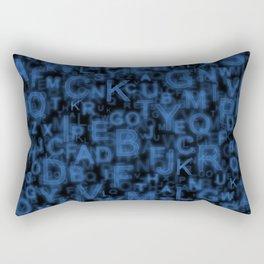 Alphabet Blue Rectangular Pillow