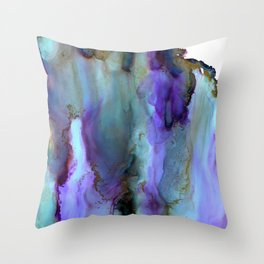 Purple Veil - soft wash of purple and blue, watercolor style Throw Pillow