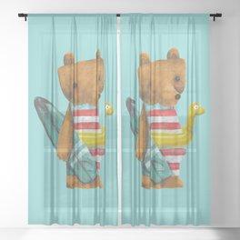 Summer Bear Sheer Curtain