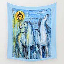 Empowerment: Spirit Horses Rise Wall Tapestry