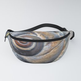 Blue and Gold spiral seashell Fanny Pack