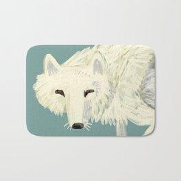 Totem Artic Wolf Turquoise Bath Mat