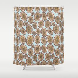 Hagfish Mouth Pattern Shower Curtain