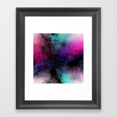Neon Radial Dreams Framed Art Print
