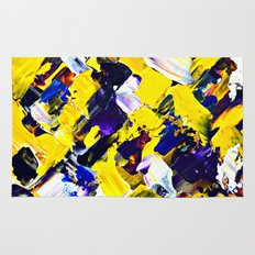 Yellow Intersections Rug