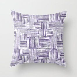 Stamped Lines One Throw Pillow