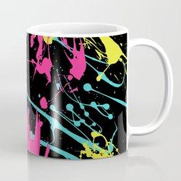 Splatter Paint Black Coffee Mug