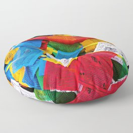 Colorful Tibetan prayer flags Floor Pillow