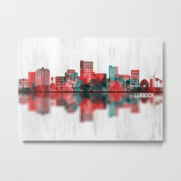 Lubbock Texas Skyline Metal Print