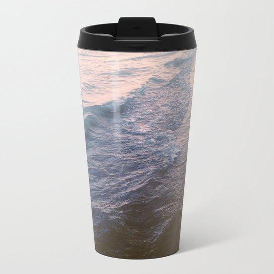 Sunset waves Metal Travel Mug
