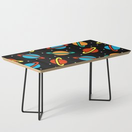 Space Planets Pattern Coffee Table