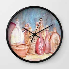 Lithuanian Pottery  WC20150709a Wall Clock