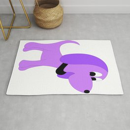 PURPLE DIVA DOG Rug