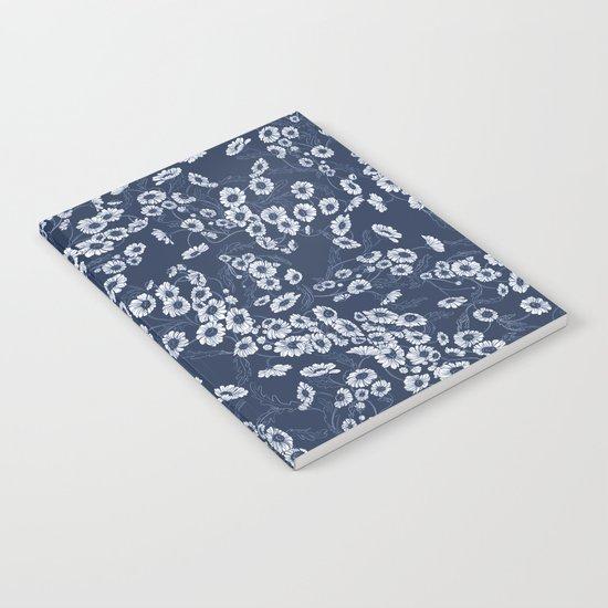 Daisy Dream Navy Notebook