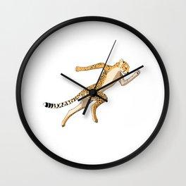 cheetah Sprinter track and field sprint runner  sport Wall Clock