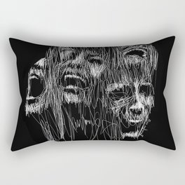 Sinking in the Dark Rectangular Pillow