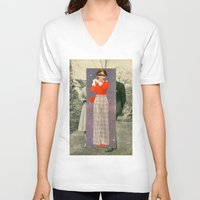 lip V-neck T-shirts featuring Lip Service by Peter Campbell