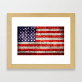 Antique American Flag Framed Art Print