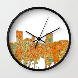 Fort Wayne, Indian Skyline - Rust Wall Clock