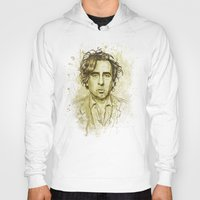 tim shumate Hoodies featuring Tim Burton by Renato Cunha